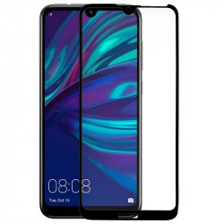 Protector Pantalla Cristal Templado Huawei Y7 (2019) (FULL 3D Negro)